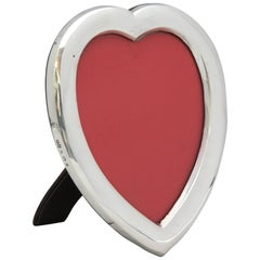 Edwardian Sterling Silver Heart-Form Picture Frame