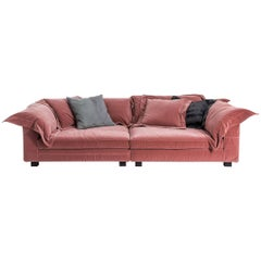 """Nebula Nine"" Cotton Linen Leather & Velvet Covered Sofa by Moroso & Diesel"