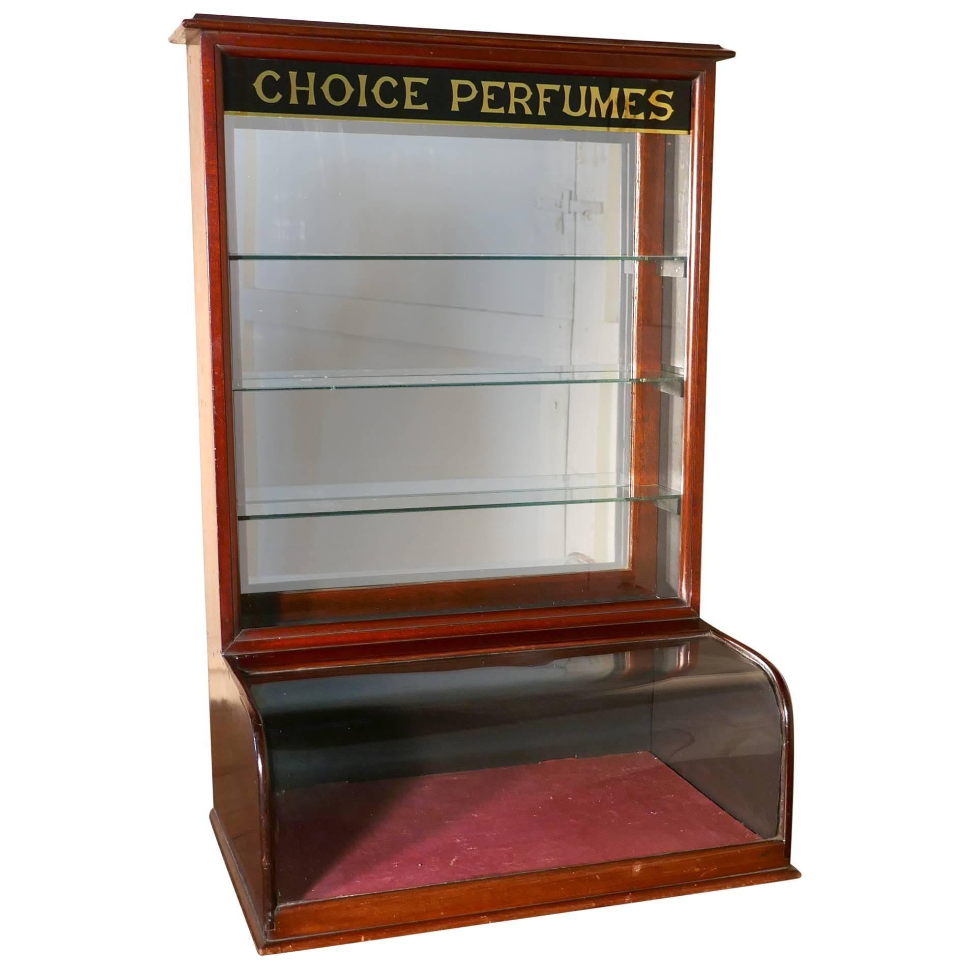 Victorian Mahogany Chemistu0027s Perfume Shop Display Cabinet