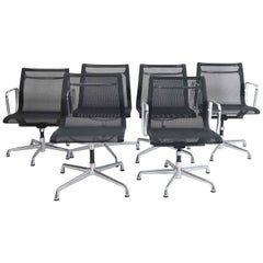 Six Eames Aluminum Group Management Chairs