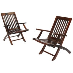 Pair of Rosewood Deck Armchairs