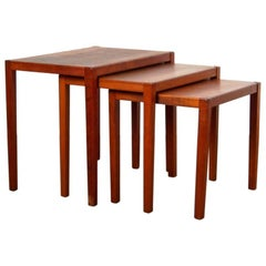 Midcentury Nesting Tables by Sika Mobler, Denmark, 1960s