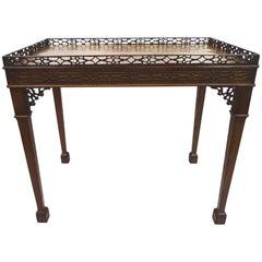 Early 19th Century Victorian Mahogany Rectangular Tea Table