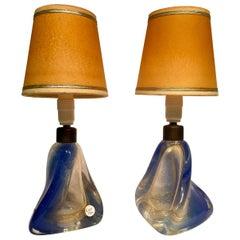 """Archimede Seguso, Lamps in Artistic Blown Glass of Murano, """"sfumato oro"""""""