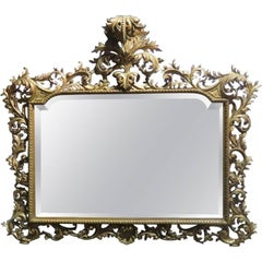 Large Florentine Italian Carved Mirror