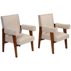 """Avocat"" Armchairs by Pierre Jeanneret"
