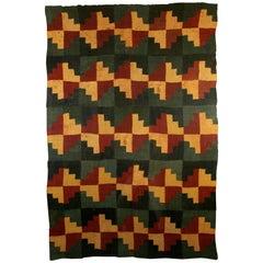 Pre-Columbian Nazca Checkerboard Cushma 200-400 AD Ex Guillot-Muñoz