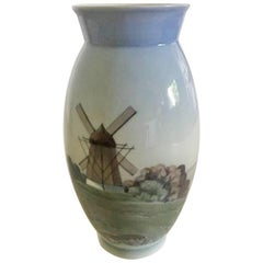 Bing & Grondahl Vase with Mill Motif No. 695/5420
