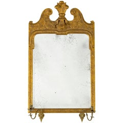 Queen Anne Antique Gold Leaf Mirror