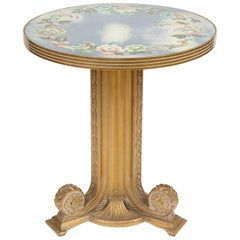Vintage Verre Églomisé Centre or Accent Table