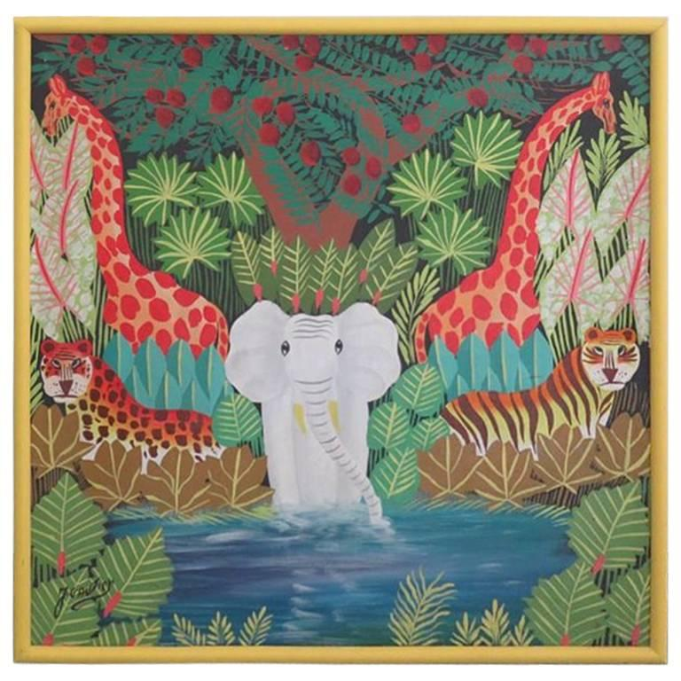Jungle Still Life, signed J. Gautier For Sale