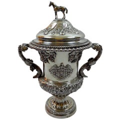 19th Century English Sterling Silver Urn