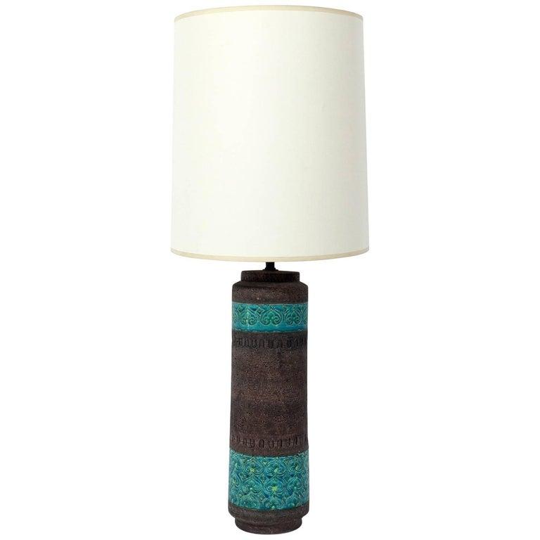 Colorful Italian Ceramic Lamp by Aldo Londi for Bitossi