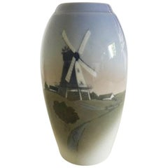 Bing & Grondahl Vase with Mill Motif No. 1302/6251