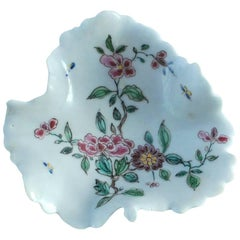Early Bow Porcelain Pickle Dish, circa 1748