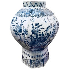 Delft Balustrade Vase, 18th Century
