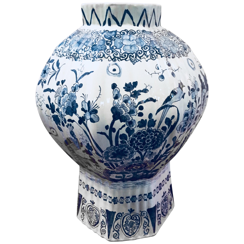 Delft Balustrade Vase, 18th Century