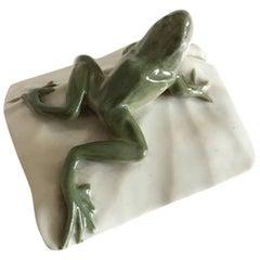Royal Copenhagen Art Nouveau Frog Paperweight #881