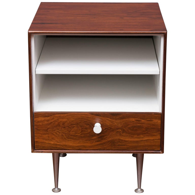 George Nelson Thin Edge Rosewood Nightstand For Sale