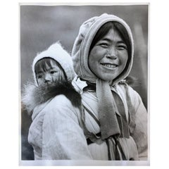 Eskimo Mother and Her Baby, Alaska Photograph