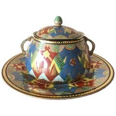 Stern Brothers Austrian Porcelain Art Deco Jar
