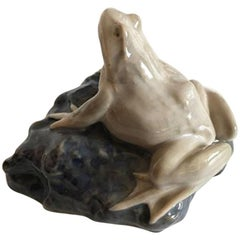 Royal Copenhagen Art Nouveau Paperweight with Frog #884