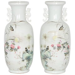 Chinese Vases with Birds