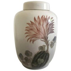 Royal Copenhagen Lidded Vase or Urn #2686/888 with Cactus Motif