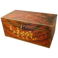 Decorated Storage or Document Box, New England Folk Art, Mid-19th Century