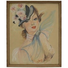 Watercolor After Jean Gabriel Domergue