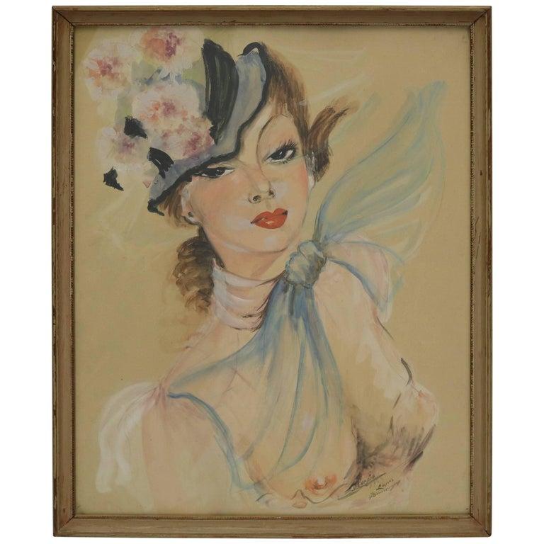 Watercolor After Jean Gabriel Domergue