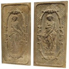 Pair of Mid-19th Century French Fireback Panels