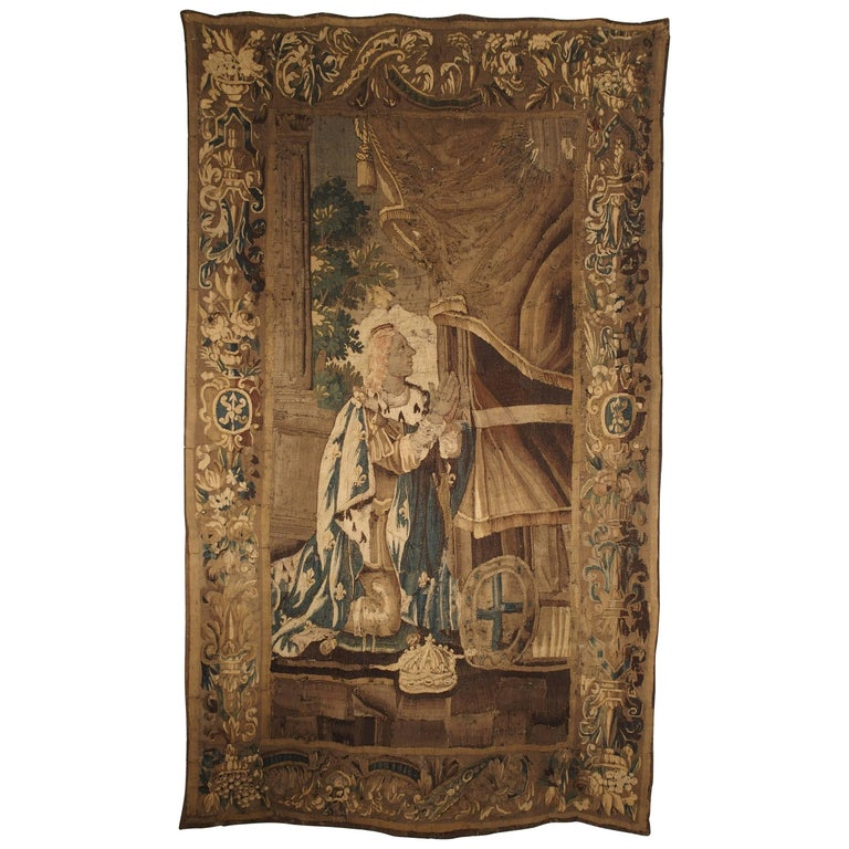 French Aubusson Tapestry Depicting the Coronation of a King, circa 1600