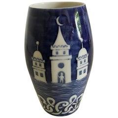 Bing & Grondahl Vase with Decoration of City of Copenhagen Crest