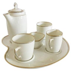 Bing & Grondahl Mocha Set, with Tray, Jug, Creamer, Two Cups and Sugar Bowl