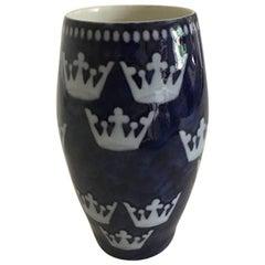 """Bing & Grondahl Nordic Kingdom Vase """"Sweden"""""""