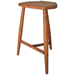 Hudson Three-Legged Counter Height Wood Stool by New York Heartwoods