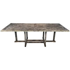 Long English Rectangular Teak Dining Table
