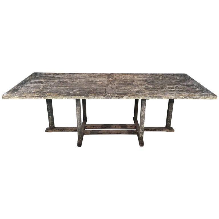 Long English Rectangular Teak Dining Table For