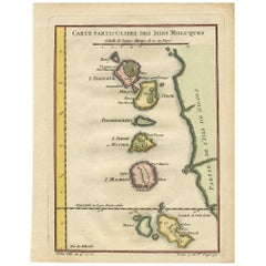 Antique Map of the Moluques 'Indonesia' by J.N. Bellin, circa 1750