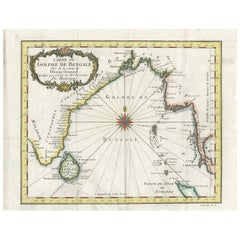 Antique Map of the Gulf of Bengal by J.N. Bellin, circa 1760