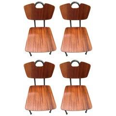 1951 Pierre Guariche, Prefacto Set of Four Chairs, Airborne Edition