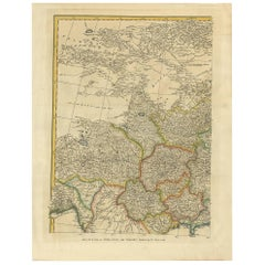 Antique Map of China, Tibet and Tartary 'Asia' by S. Bolton, circa 1745