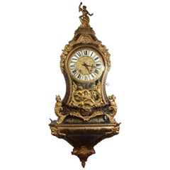 Louis XV Bracket Clock Boulle by Fortin Paris, French, 1747