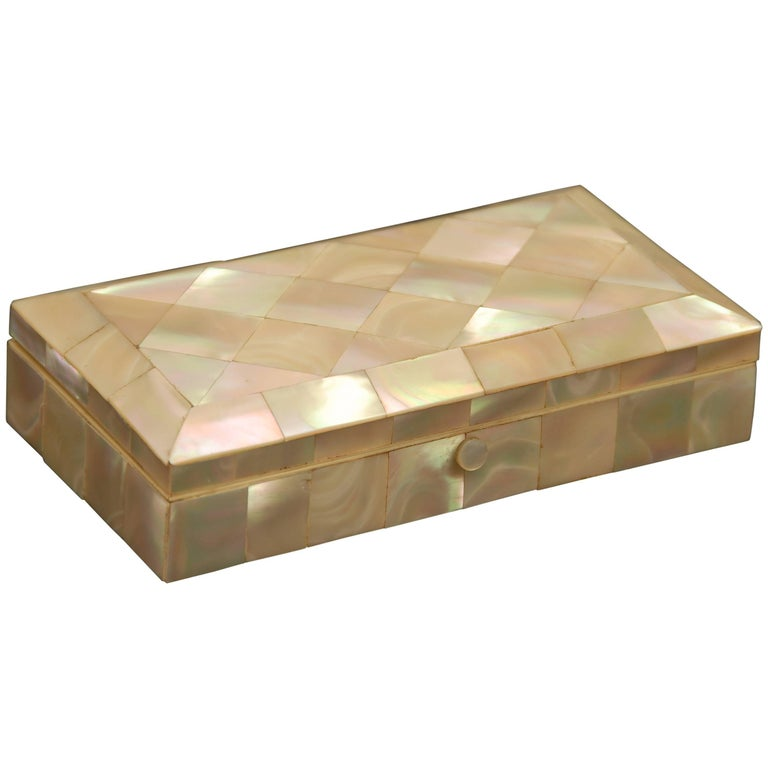 Mother-of-Pearl Trinket or Jewelry Box