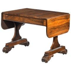 Regency Period Goncaro Alves Sofa Table on Sledge Supports