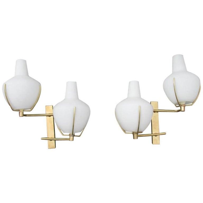 Pair of Sconces Stilnovo Design 1960s Made in Italy