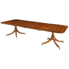 Sheraton Style Two Pillar Dining Table