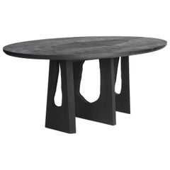 Handmade Black Scorched Ash Dining Table by Sebastian Cox for the New Craftsmen