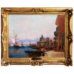 Allegre Raymond, Grand Canal to Venice, Painting, 19th Century